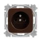 Zásuvka jednonásobná s ochranným kolíkom, Reflex SI, hnedá