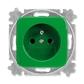 Zásuvka jednonásobná s ochranným kolíkom, Reflex SI, zelená