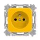 Zásuvka jednonásobná s ochranným kolíkom, Reflex SI, žltá