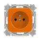 Zásuvka jednonásobná s ochranným kolíkom, Reflex SI, oranžová