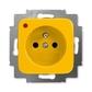 Zásuvka jednonásobná s ochranným kolíkom, s ochranou pred prepätím, Reflex SI, žltá