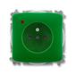 Zásuvka jednonásobná s ochranným kolíkom, s clonkami, s ochranou pred prepätím, Tango®, zelená