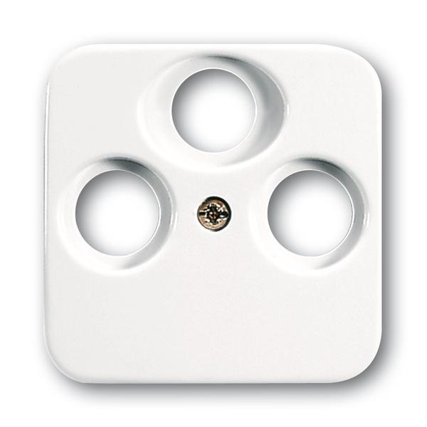Kryt zásuvky anténnej s 3 otvormi, Reflex SI, alpská biela