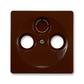 Kryt zásuvky anténnej, s vylamovacím otvorom, Swing®, Swing®L, hnedá