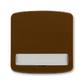 Kryt spínača kolískového s popisovým poľom, Tango®, hnedá