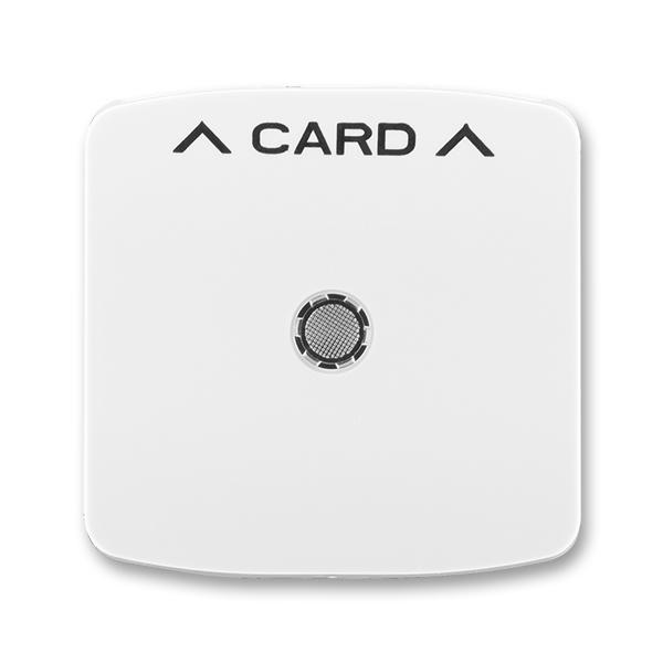 Kryt spínača kartového, s čírym priezorom, s potlačou, Tango®, biela