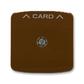 Kryt spínača kartového, s čírym priezorom, s potlačou, Tango®, hnedá