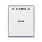 Kryt spínača kartového, s čírym priezorom, s potlačou, Element®, biela / ľadová šedá