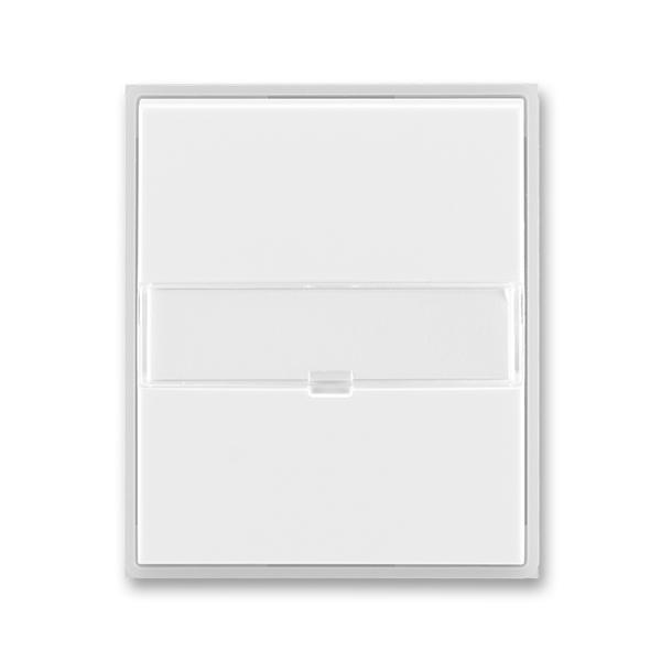 Kryt spínača kolískového s popisovým poľom, Time®, Element®, biela / ľadová biela