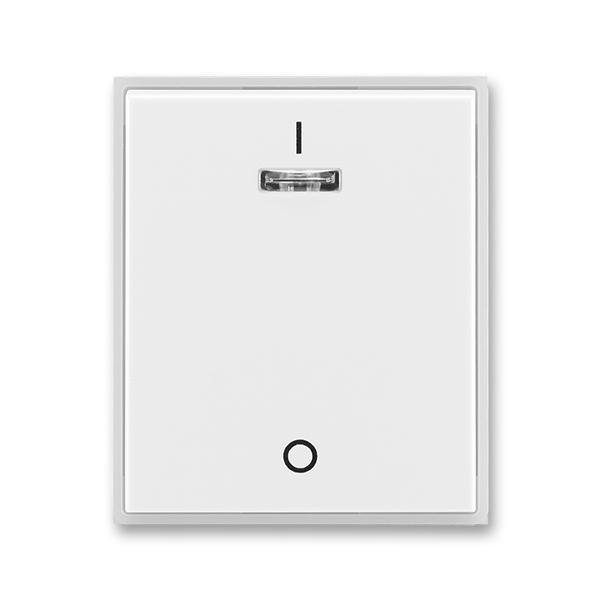 Kryt jednoduchý s potlačou, s čírym priezorom, Time®, Element®, biela / ľadová biela
