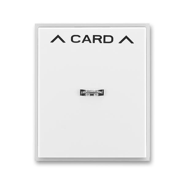 Kryt spínača kartového, s čírym priezorom, s potlačou, Time®, Element®, biela / ľadová biela