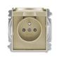 Zásuvka jednonásobná s ochranným kolíkom, s clonkami, s viečkom, Time®, Time® Arbo, šampanská