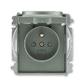 Zásuvka jednonásobná s ochranným kolíkom, s clonkami, s viečkom, Time®, Time® Arbo, antracitová