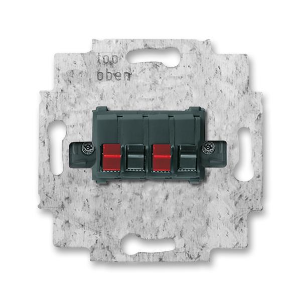 Zásuvka reproduktorová stereofónna, čierna
