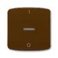 Kryt jednoduchý s potlačou, s čírym priezorom, Tango®, hnedá