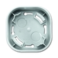 Krabica elektroinstalačná pre snímač prítomnosti, hliníková strieborná