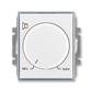 Regulátor hlasitosti, Element®, biela / ľadová šedá