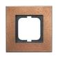 Rámček pre elektroinstalačné prístroje, jedno násobný, Solo® carat, bronz