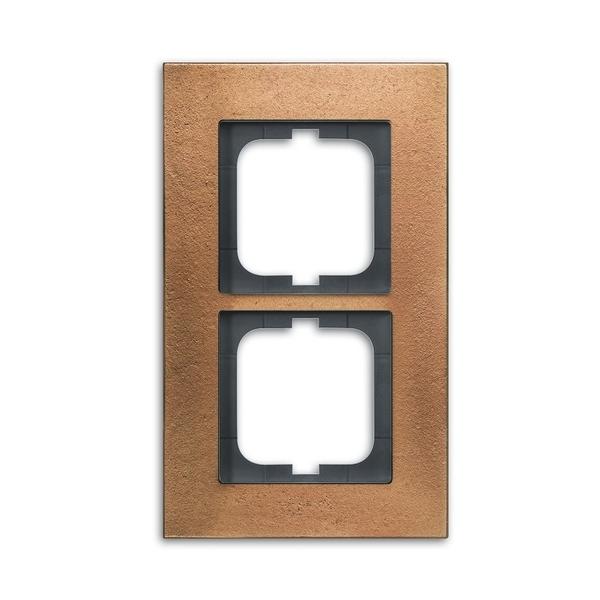 Rámček pre elektroinštalačné prístroje, dvoj násobný, Solo® carat, bronz