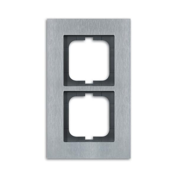 Rámček pre elektroinštalačné prístroje, dvoj násobný, Solo® carat, ušľachtilá oceľ