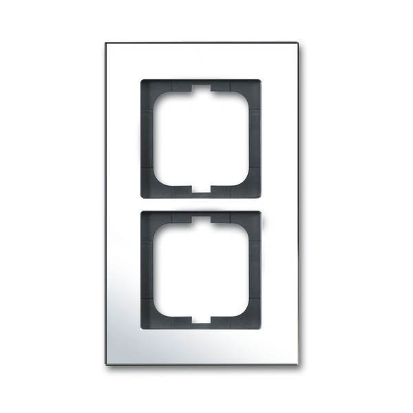Rámček pre elektroinštalačné prístroje, dvoj násobný, Solo® carat, chrómovaná mosadz