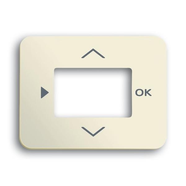 Kryt ovládača časovacieho alebo termostatu, s otvorom pre displej, Alpha exclusive®, slonová kosť