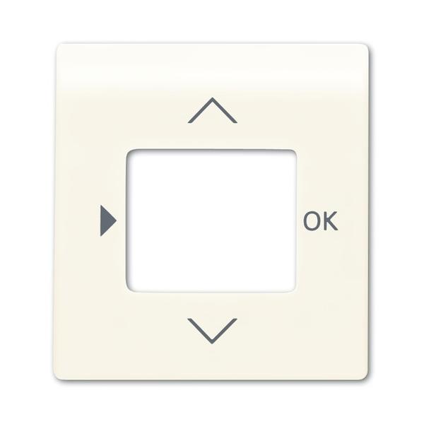 Kryt ovládača časovacieho alebo termostatu, s otvorom pre displej, Impuls, slonová kosť