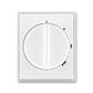 Kryt spínača s otočným ovládačom, Time®, Element®, biela / ľadová biela