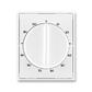 Kryt ovládača časového s otočným ovládačom, Element®, Time®, biela / biela