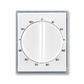 Kryt ovládača časového s otočným ovládačom, Element®, biela / ľadová šedá