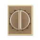Kryt ovládača časového s otočným ovládačom, Element®, kávová / ľadová opálová