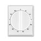 Kryt ovládača časového s otočným ovládačom, Time®, Element®, biela / ľadová biela