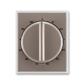 Kryt ovládača časového s otočným ovládačom, Time®, lungo / mliečna biela