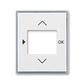 Kryt ovládača časovacieho, s otvorom pre displej, Element®, biela / ľadová šedá
