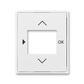 Kryt ovládača časovacieho, s otvorom pre displej, Element®, Time®, biela / biela