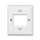 Kryt ovládača časovacieho, s otvorom pre displej, Time®, Element®, biela / ľadová biela