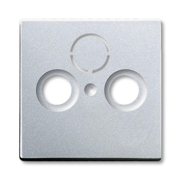 Kryt zásuvky anténnej univerzálnej s 2 (3) otvormi, Future® linear, hliníková strieborná