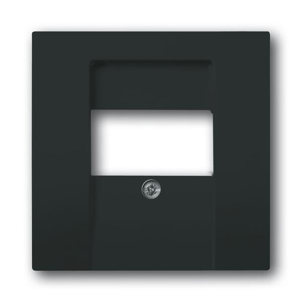 Kryt zásuvky komunikačnej priamej, Future® linear, Solo®, Solo® carat, antracitová