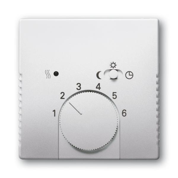 Kryt termostatu, s otočným ovládačom a posuvným prepínačom, Future® linear, ušľachtilá oceľ