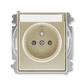 Zásuvka jednonásobná s ochranným kolíkom, s clonkami, s popisovým poľom, Time®, Time® Arbo, šampanská