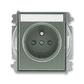 Zásuvka jednonásobná s ochranným kolíkom, s clonkami, s popisovým poľom, Time®, Time® Arbo, antracitová
