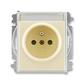 Zásuvka jednonásobná s ochranným kolíkom, s clonkami, s popisovým poľom, Element®, slonová kosť / ľadová biela