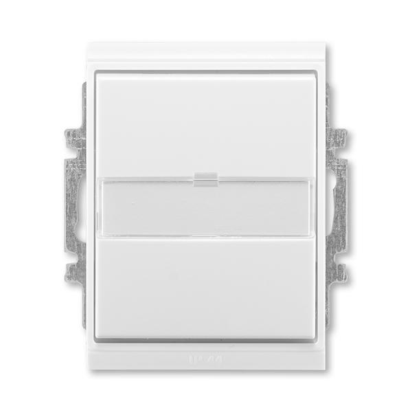 Ovládač prepínací IP 44, s popisovým poľom, zapustený, Time®, Element®, biela / ľadová biela