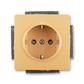 Zásuvka jednonásobná s ochrannými kontaktmi (podľa DIN), s clonkami, Swing®L, béžová