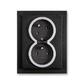 Zásuvka dvojnásobná s ochrannými kolíkmi, s clonkami, s natočenou dutinou, Neo® Tech, onyx / titánová