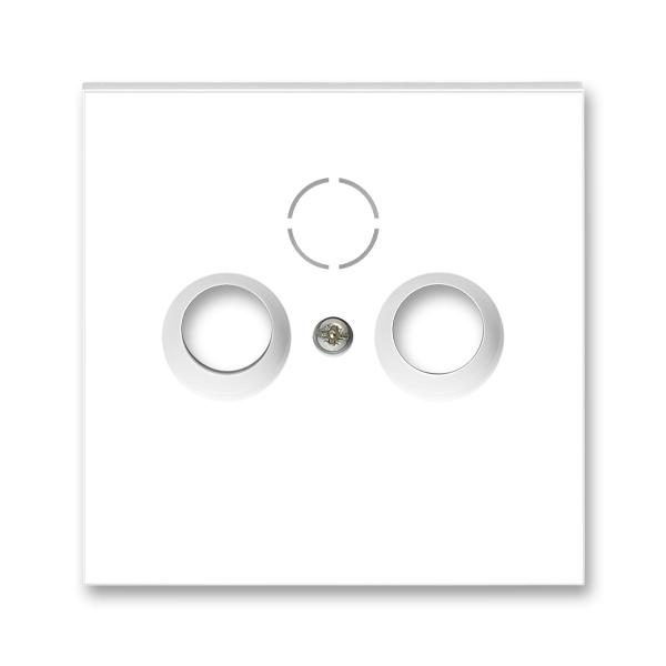 Kryt zásuvky anténnej, s vylamovacím otvorom, Neo®, biela