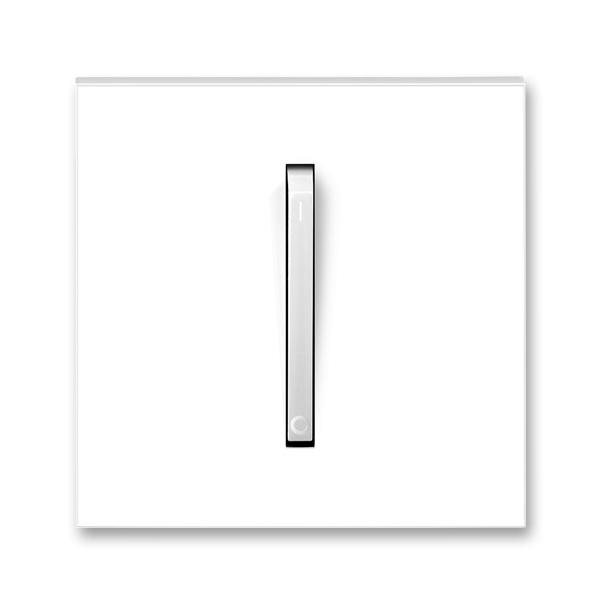 Kryt spínača s jednou páčkou, pre trojpólový spínač, Neo®, biela / ľadová biela