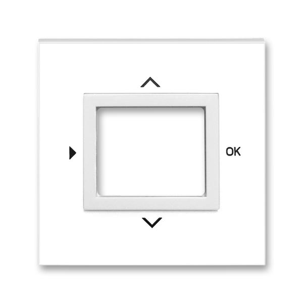 Kryt ovládača časovacieho, s otvorom pre displej, Neo®, biela / ľadová biela