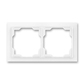 Rámček pre elektroinštalačné prístroje, dvoj násobný, Neo®, biela