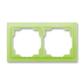 Rámček pre elektroinštalačné prístroje, dvoj násobný, Neo®, ľadová zelená